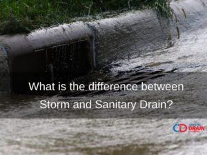 storm drain sanitary drain