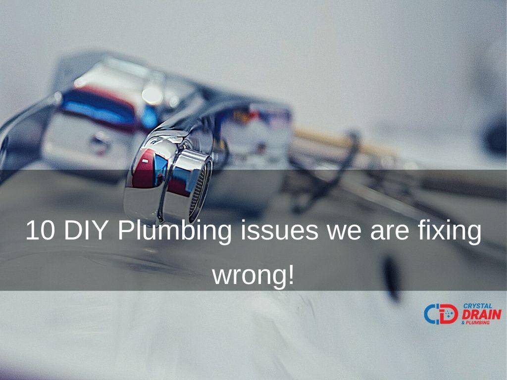 diy plumbing issues